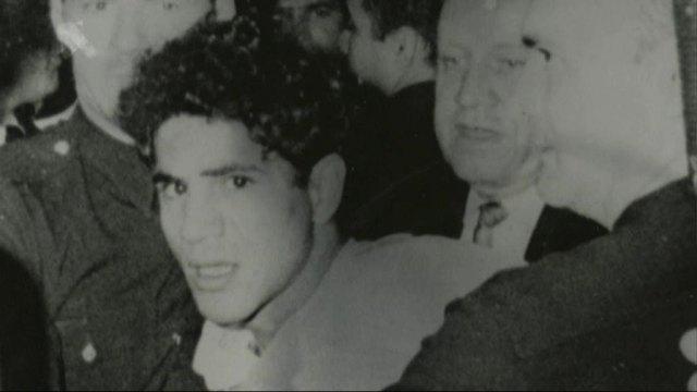 Sirhan Sirhan under arrest.