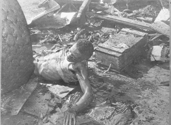 A victim of the la Coubre explosion.