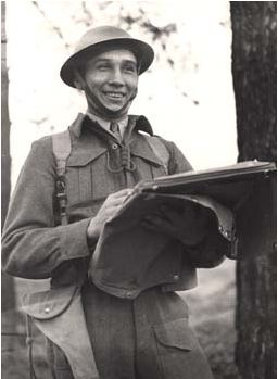Lt. David Greyeyes, 1943. [Department of National Defence]