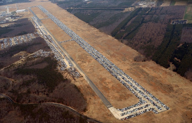 Full view of the air strip. [Stan Honda/AFP/Getty Images]