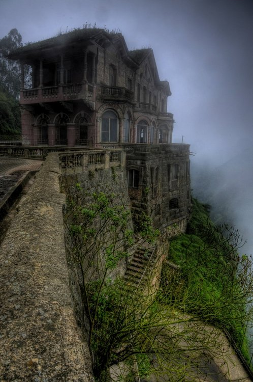 Abandoned hotel in Tequendama, Colombia.