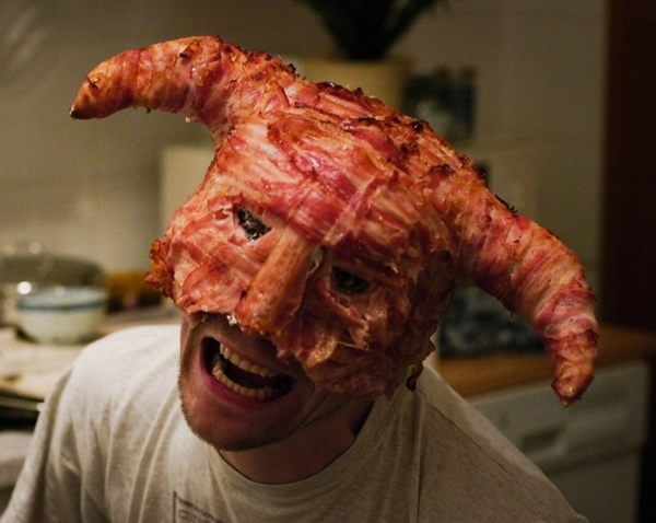 Bacon Skyrim mask also from Neatorama