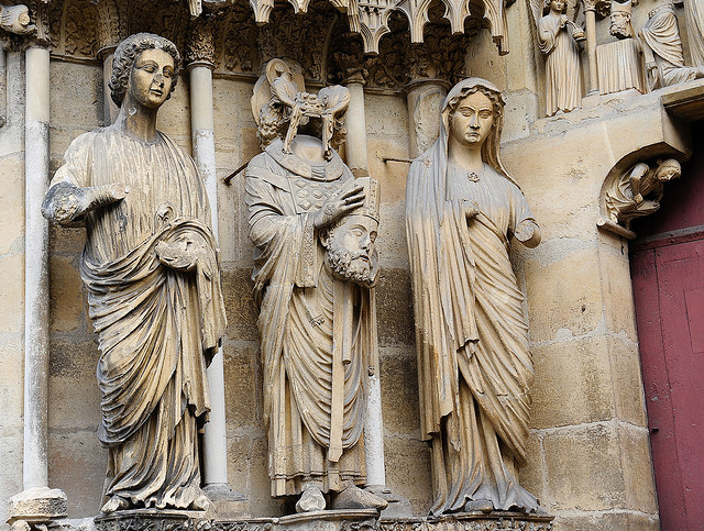 St.Nicasius at Reims Cathedral [photo by Geert Schneider on flickr.com]