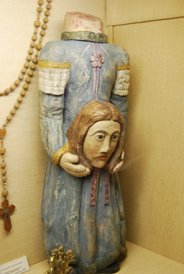 St. Solange. Her severed head called out Jesus' name three times.