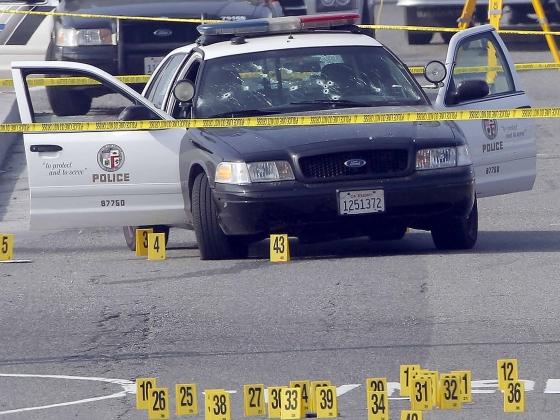 Police car shot up by Dorner.