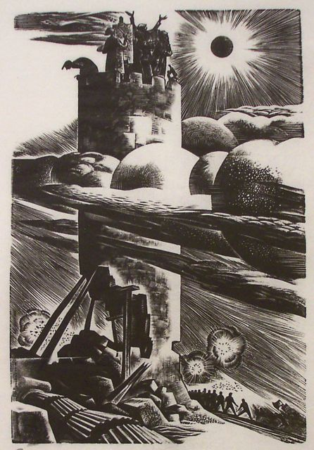 """Sanctuary"", 1939. Self-satirization as the artist in an ivory tower."