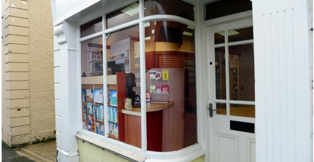 This used to be a pharmacy, now it's a pretend office supply store. [Photo: Bryan O'Brien for the Irish Times]