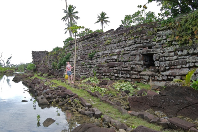 Outside a retaining wall at Nan Madol [S.W.Batzer, flickr.com]