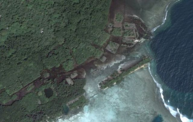 Ruins of Nan Madol, Google Earth