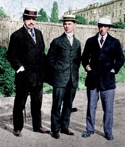 Diaghilev, Nijinsky, Stravinsky. Photo by Nijinsky's sister, circa 1911