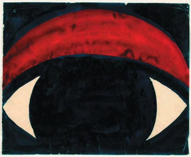 Nijinsky painting of an eye, 1920