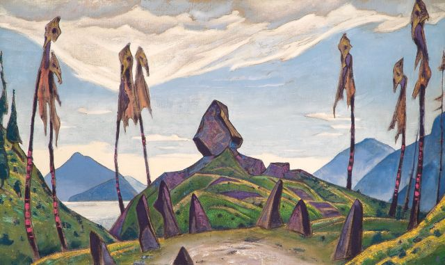 Roerich backdrop used in the American production.