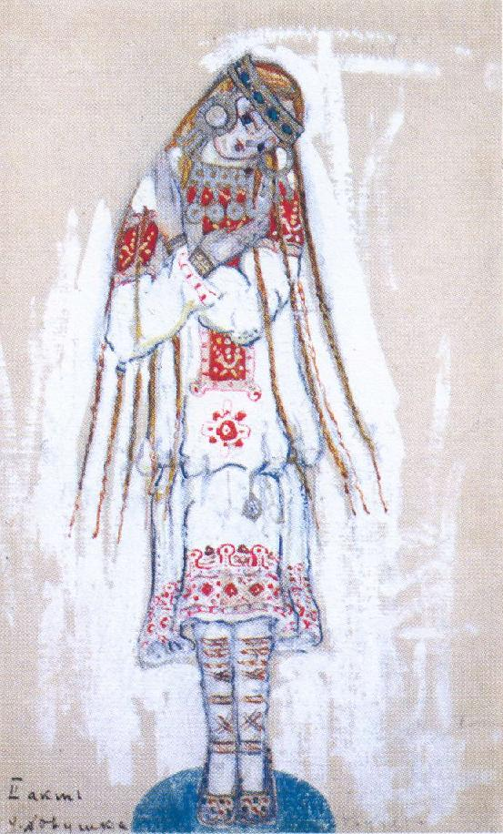 Costume study by Roerich.