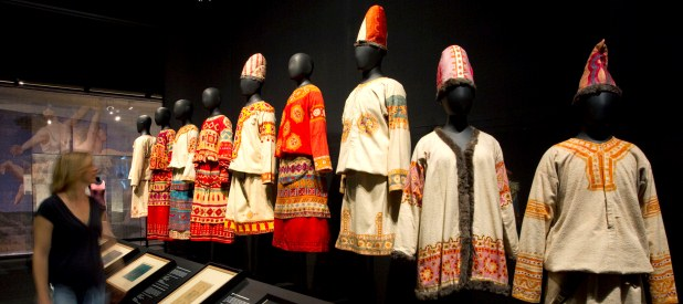 Costumes from  The Rite of Spring  on display at the Victoria and Albert Museum.