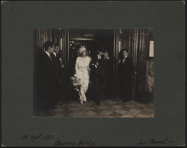 Romola and Nijinsky wedding, Buenos Aires, 1913.
