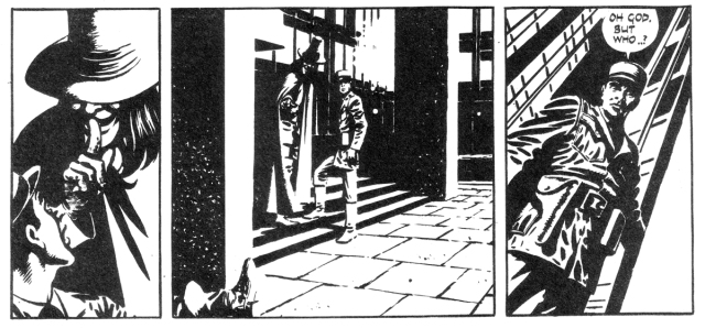 Panels from V For Vendetta by Alan Moore and David Lloyd, Warrior Magazine #4, 1982