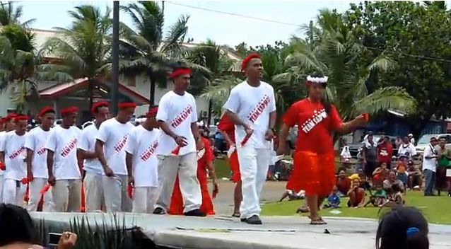 Group from Sapwuahfik performing at Founders Day celebration for the College of Micronesia. [YouTube