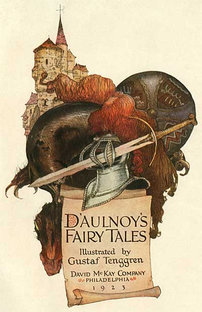 Title-page for Daulnoy's Fairy Tales, 1923. [via Animation Resources]