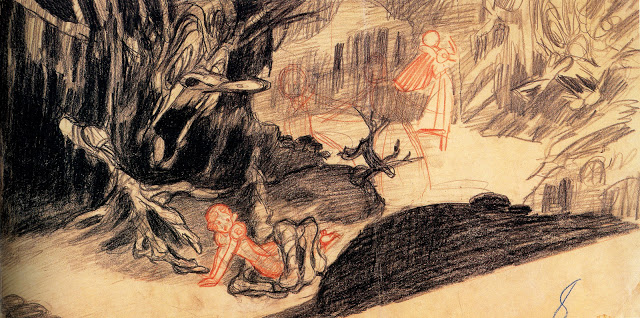 Concept drawing for Snow White, 1937