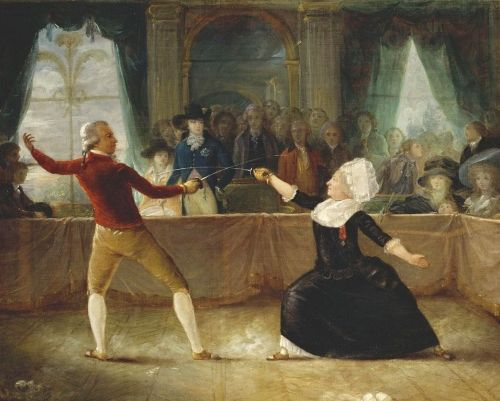 Painting by Robineau, who was present, apparently, at the match. [Royal Collection, copyright owned by Queen Elizabeth II]