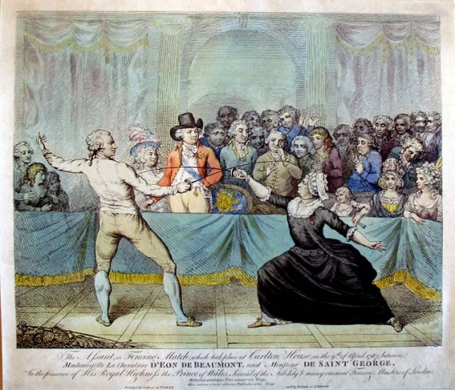 Engraving made from the Robineau painting by Victor Marie Picot in 1789. Picot has caricatured the audience. [Princeton University Library]