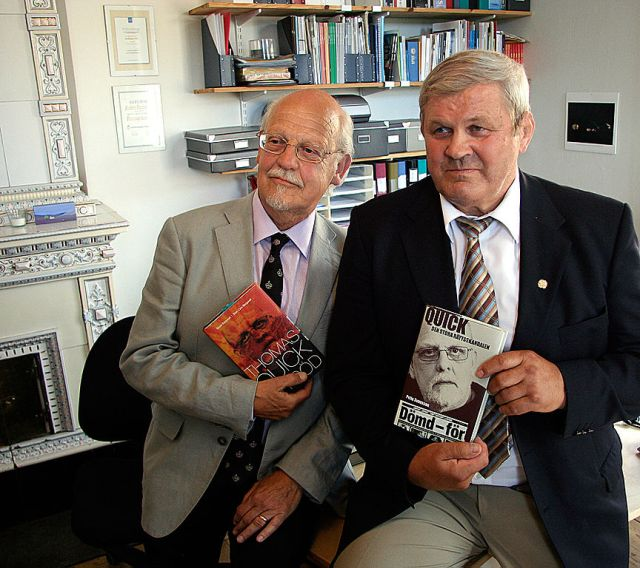Sten-Ove Bergwall and Pelle Svenson, lawyer who acted for the Asplund parents. Picture taken 2009 [Wikicommons]