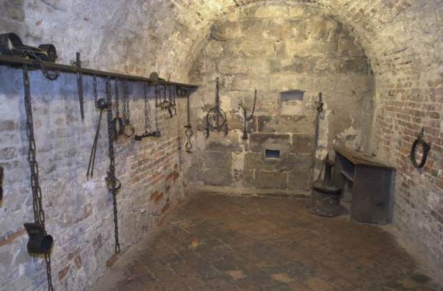Dungeon under Nuremburg's Old City Hall. Here is where prisoners were held before their execution. Now it's a tourist destination.