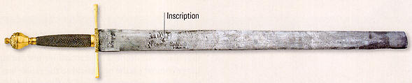 "German executioner's sword. The inscription: ""I have to punish crime as the law and judge tell me"". [Weapons Universe]"