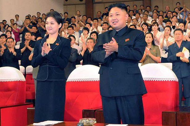 Ri Sol-ju and Kim Jong-un earlier this year.