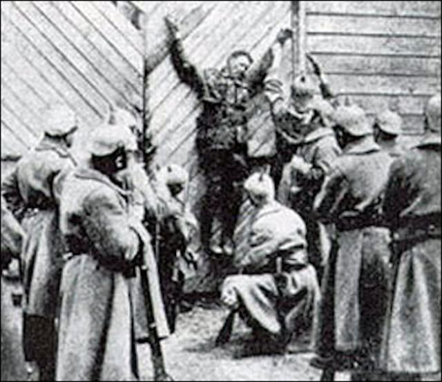 Still from The Prussian Cur, propaganda movie made 1918. The film is now lost.