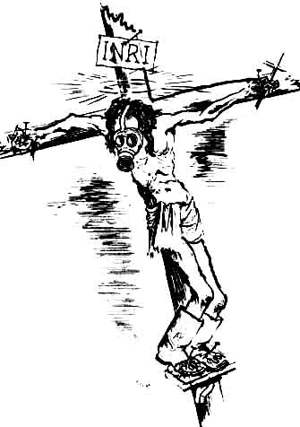 """Ecce Homo"" by George Grosz, 1924. Grosz was charged with blasphemy."