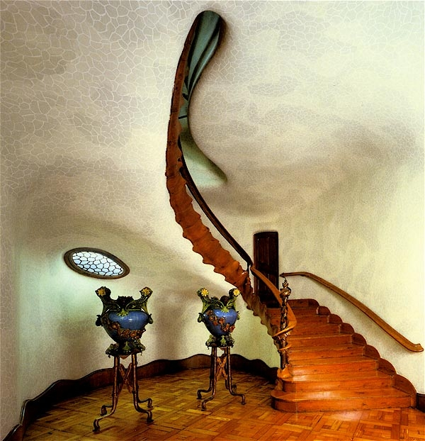 Staircase at Gaudi's Casa Battlo.