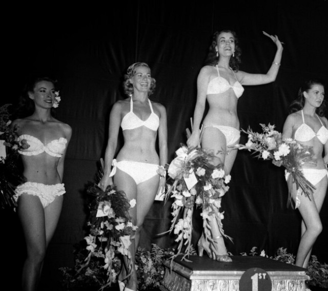 The first Miss World winners and the last to pose in bikinis, 1951.