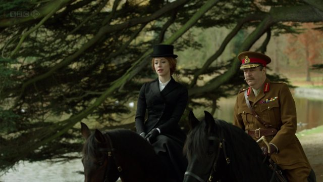 Sylvia and General Campion played by Roger Allam. Now he looks right, but he is the guy that should have played Mark. Allam, if you don't recognize him, plays Morse's boss in Endeavour.