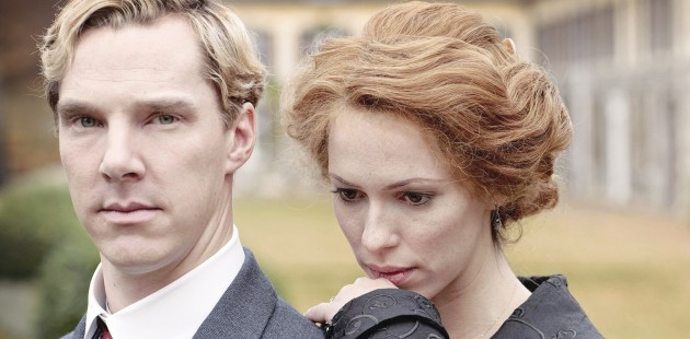 Cumberpatch and Rebecca Hall as Christopher and Sylvia.