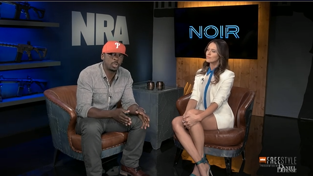 "That's Colion Noir, who got noticed a while back when he claimed that Dr. Martin Luther King, jr. was a gun enthusiast. (Hey! Do you thing his name really is ""Noir""? Because, that's French or something.)"