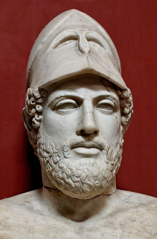Pericles. Roman copy of a Greek original. [photo: Jastrow Wikipedia Commons]