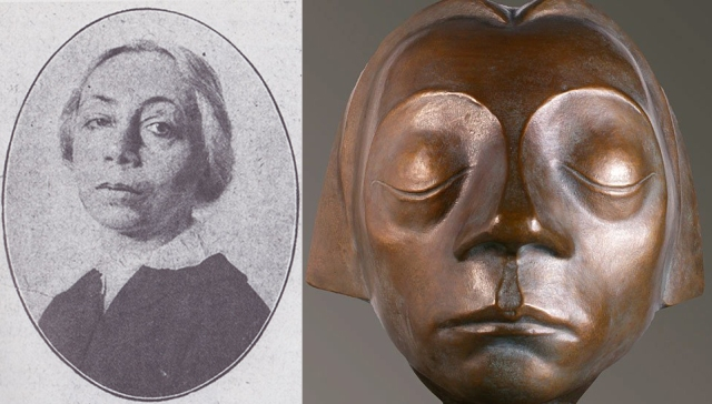 Left, Kathe Kollwitz, 1919 [Wikimedia Commons], Right, Head of Gustrow angel[Barlach Museum, Wedel