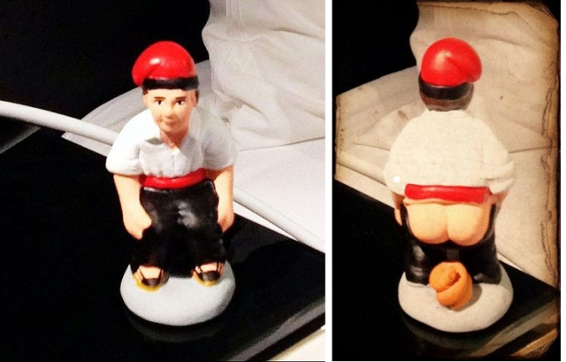Caganer figure from Barcelona [Ekasha; Wikipedia.com]