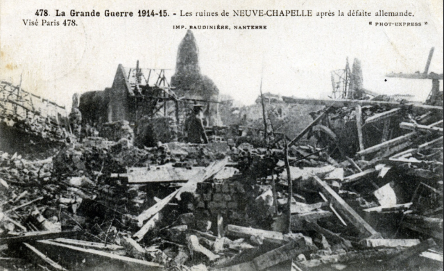 Neuve Chapelle after the battle. (via: http://mentalfloss.com/article/62119/wwi-centennial-battle-neuve-chapelle)