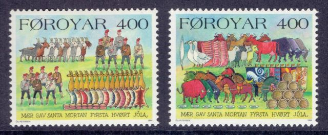 12_faroe-islands-1994-stamps-christmas-um-nh-mint